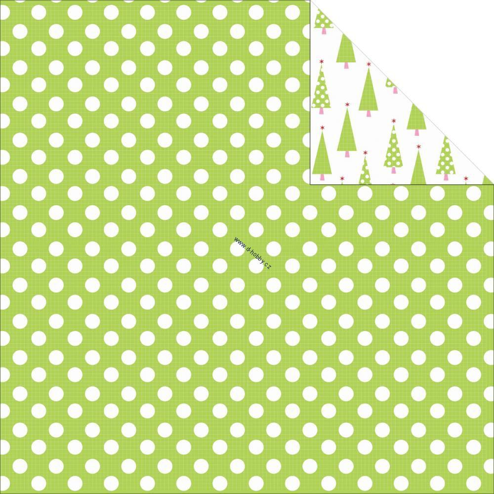 Kaisercraft - Mint Twist - PEPPERMINT - scrapbookový papír