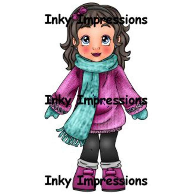 Inky Impressions - All Bundled Up Lili - cling razítko