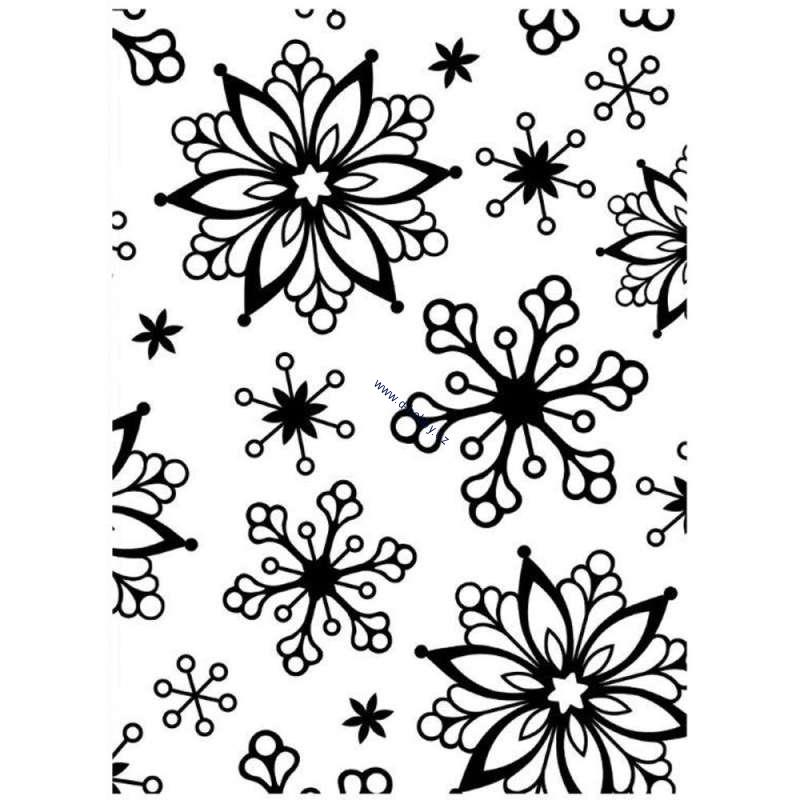 Embossovací kapsa A6 - SNOWFLAKES BACKGROUND