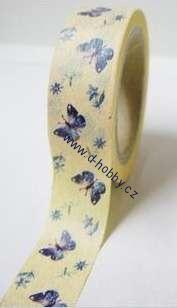 Washi tape - Blue Butterflies