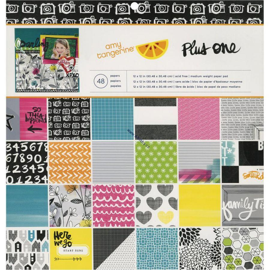 "Amy Tangerine - Plus One 12""x12""- 24 papírů na scrapbook"